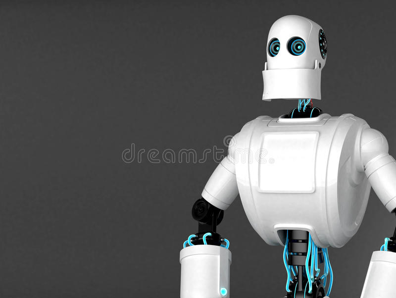 Robô ereto ilustração do vetor