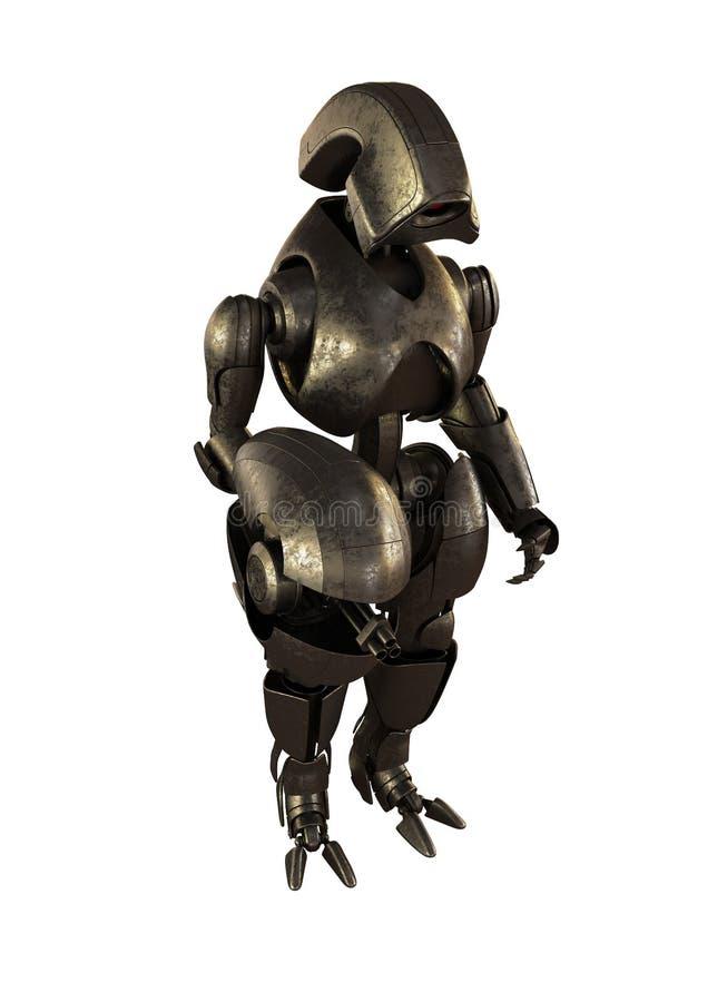 Robô futurista de aço ilustração royalty free