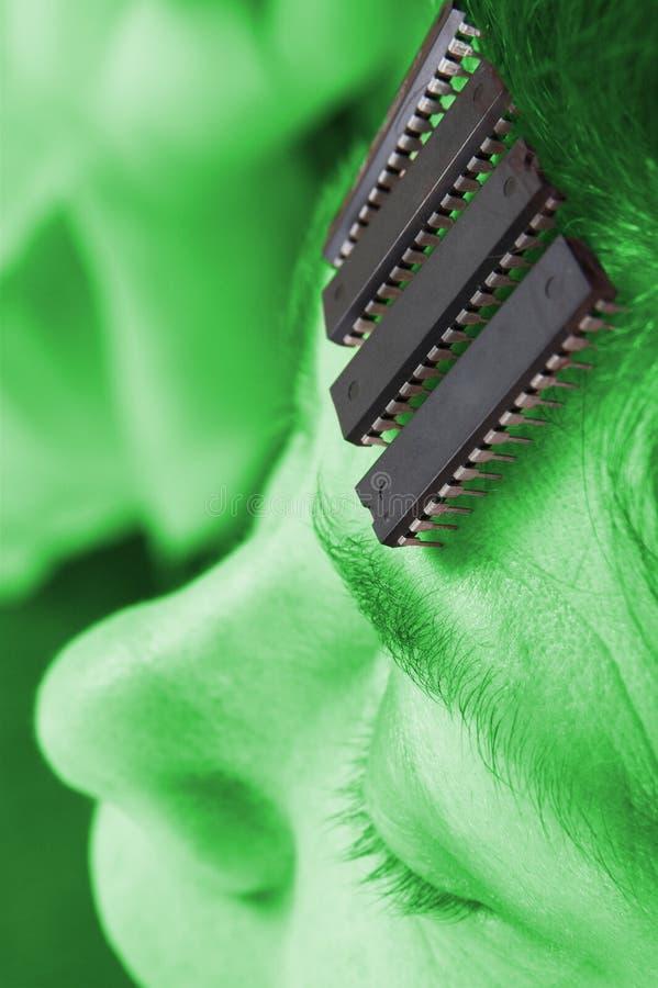 Robô humano - inteligência artificial foto de stock