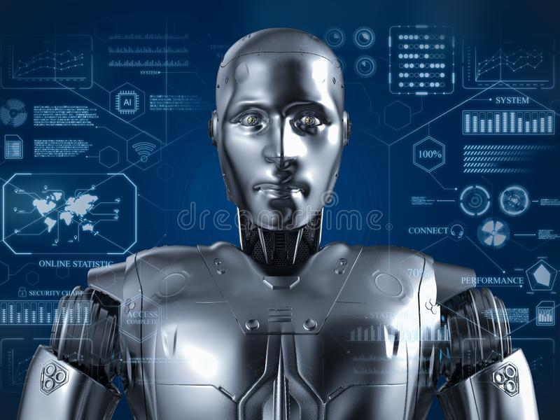 Robô Humanoid com hud