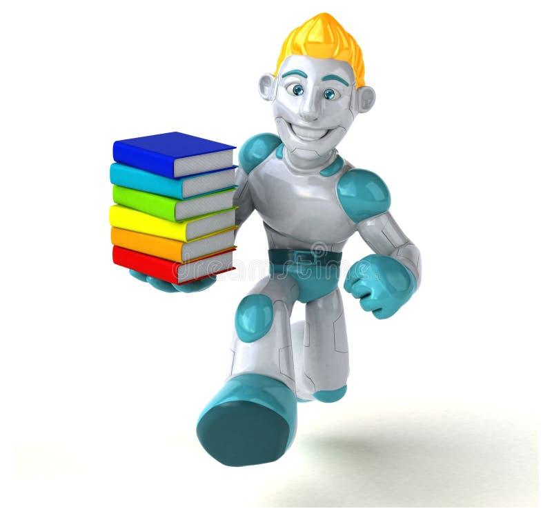 Robô - ilustração 3D ilustração stock