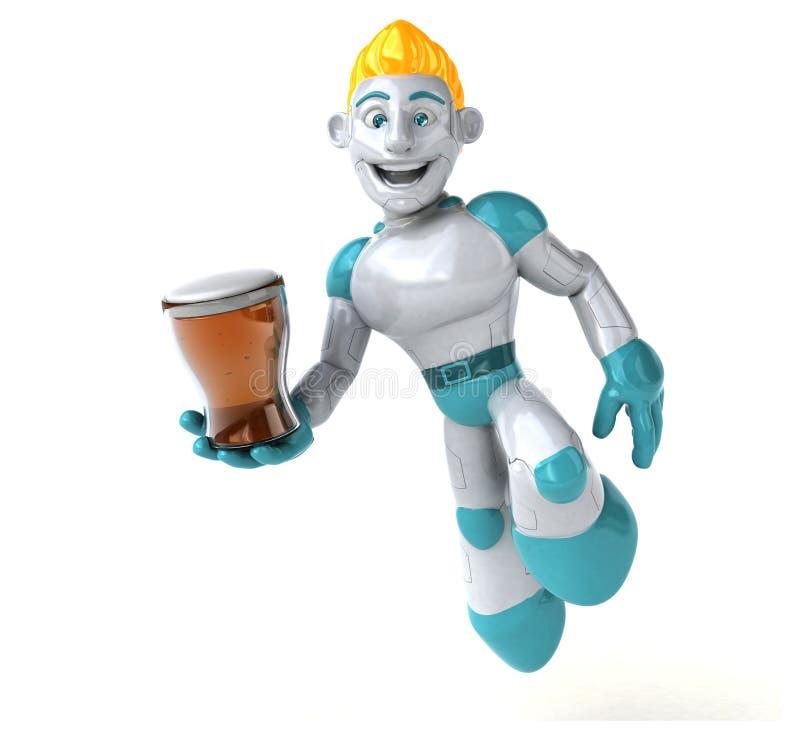 Robô - ilustração 3D ilustração royalty free