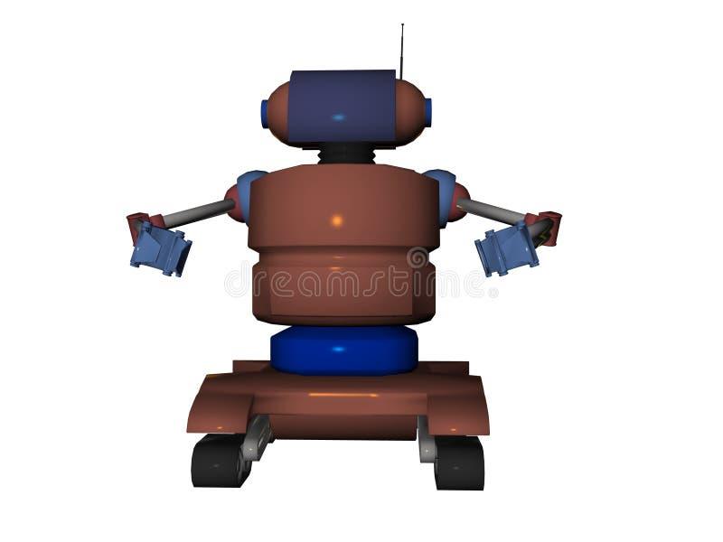 Robô ilustrado ilustração royalty free