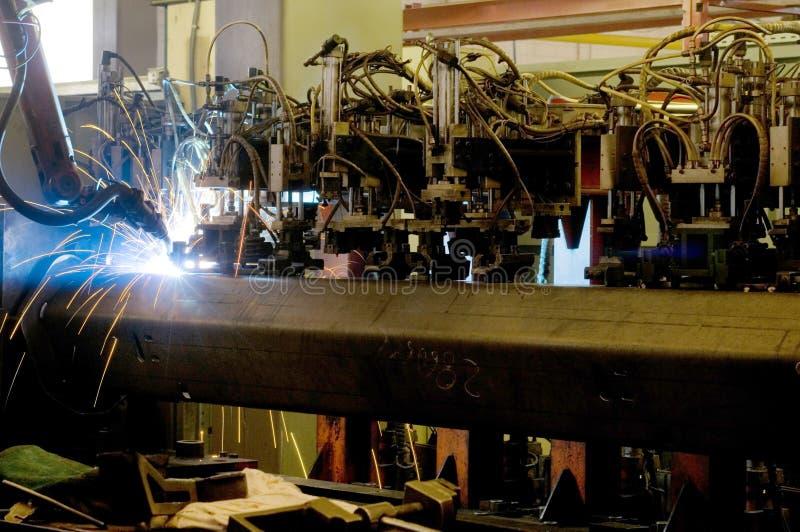 Robô industrial fotos de stock