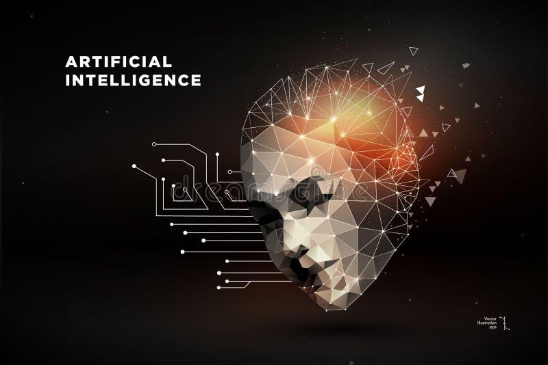 Robô Inteligência artificial ilustração do vetor