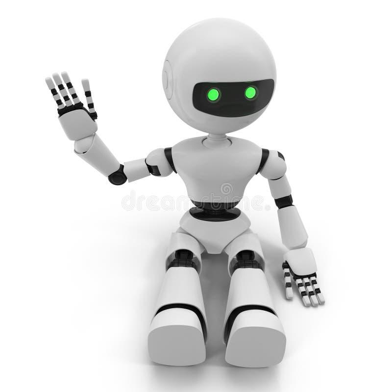 Robô moderno ilustração 3D isolada no fundo branco ilustração royalty free