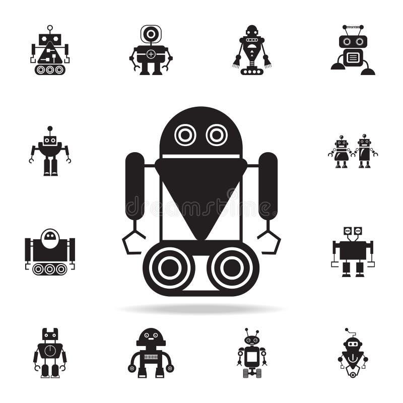 robô no ícone da lagarta Grupo detalhado de ícones do robô Projeto gráfico superior Um dos ícones da coleção para Web site, Web ilustração royalty free
