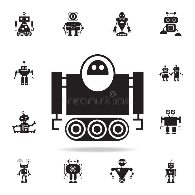 robô no ícone da lagarta Grupo detalhado de ícones do robô Projeto gráfico superior Um dos ícones da coleção para Web site, Web ilustração do vetor