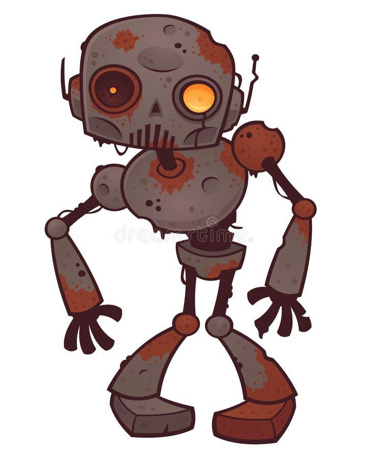 Robô oxidado do zombi ilustração do vetor