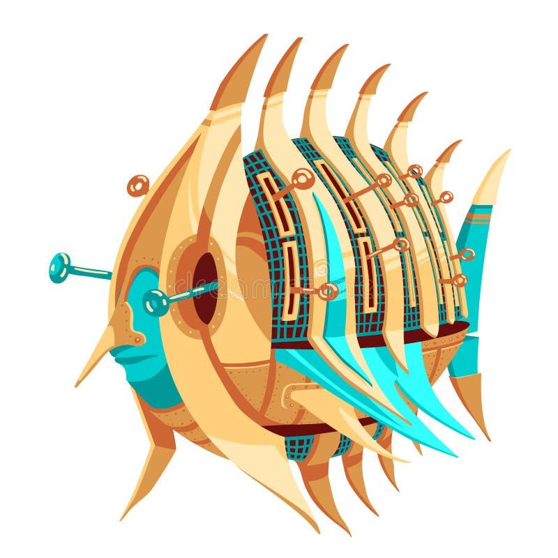 Robô-peixes com alavancas ilustração stock