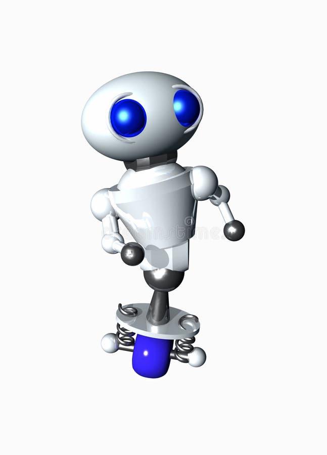 Robô pequeno bonito ilustração do vetor