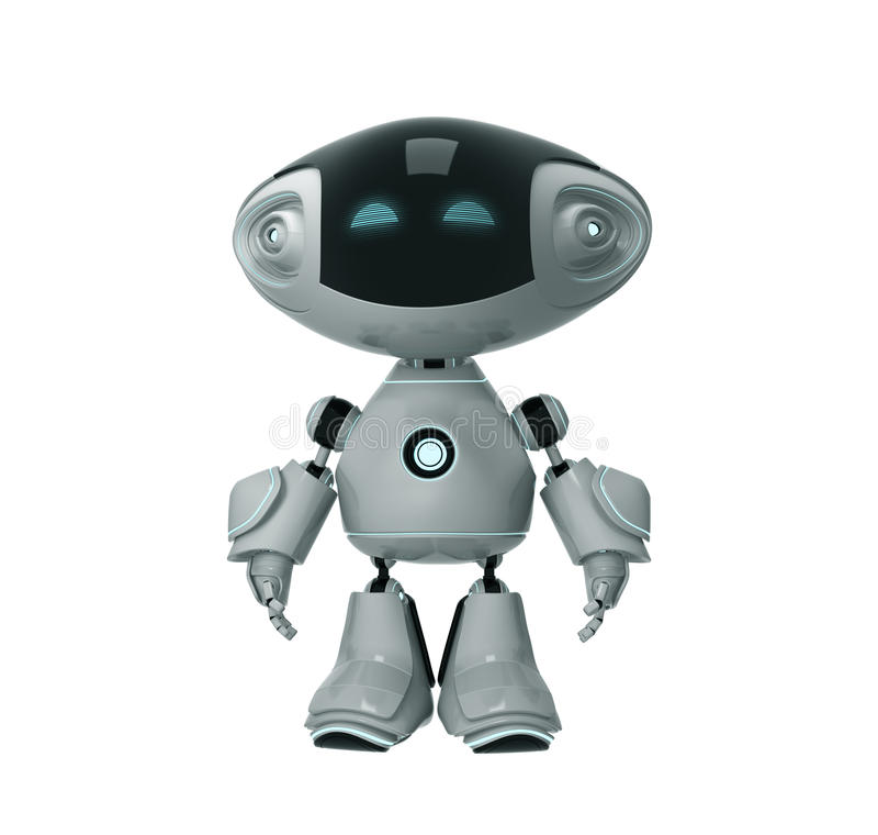 Robô positivo do brinquedo ilustração do vetor