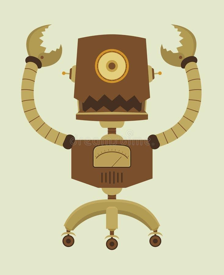 Robô retro ilustração royalty free
