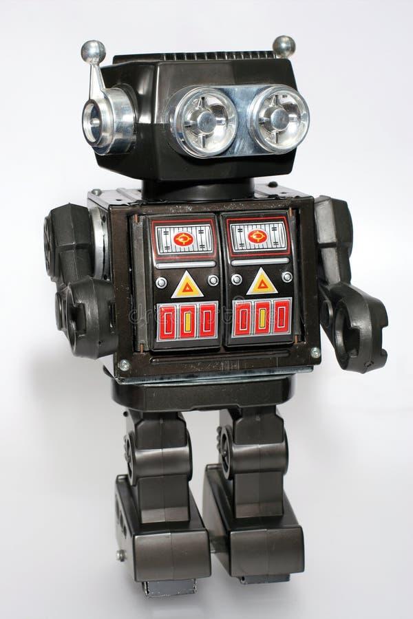 Robô velho #5 do estanho do brinquedo foto de stock