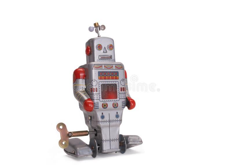 Robô velho do brinquedo fotografia de stock