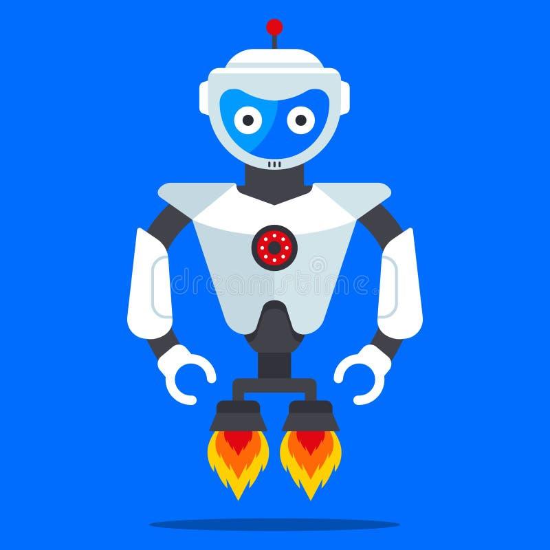 Robô voador do futuro ilustração do vetor