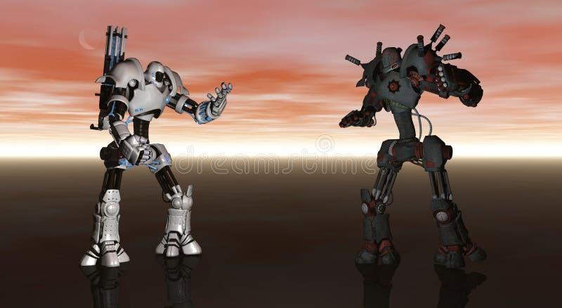 Robôs da batalha ilustração royalty free