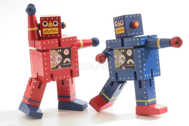 Robôs da dança imagem de stock royalty free