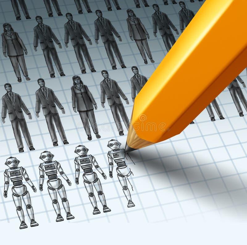 Robôs que substituem empregados ilustração stock