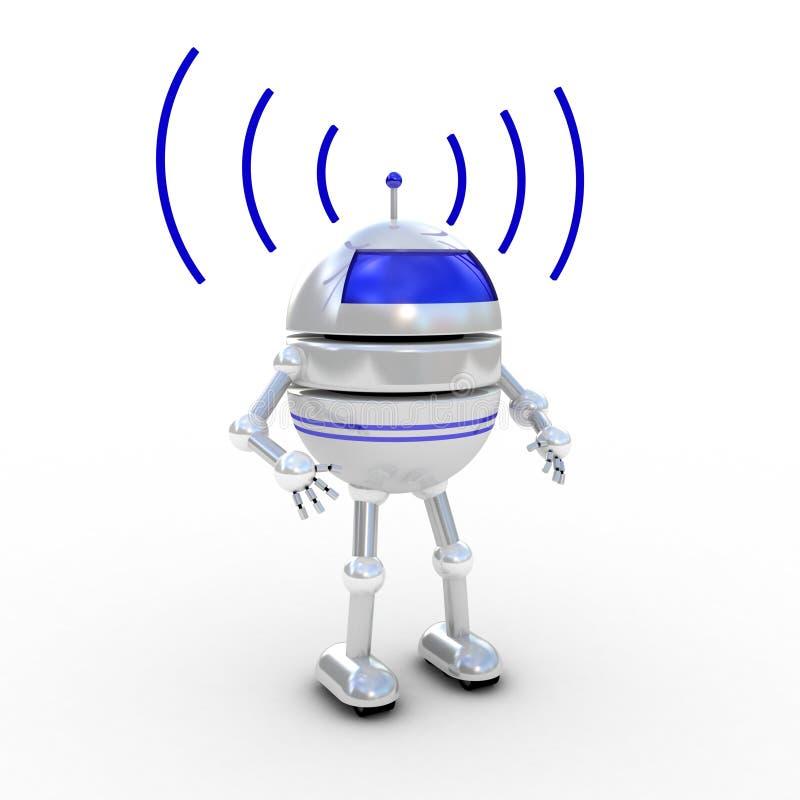 Robô, 3D Fotografia de Stock Royalty Free