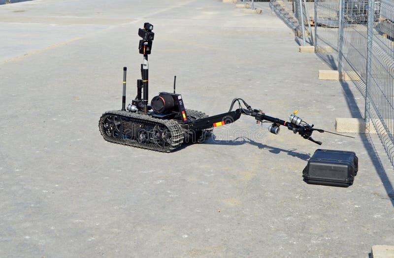 Robô da eliminação de bomba foto de stock