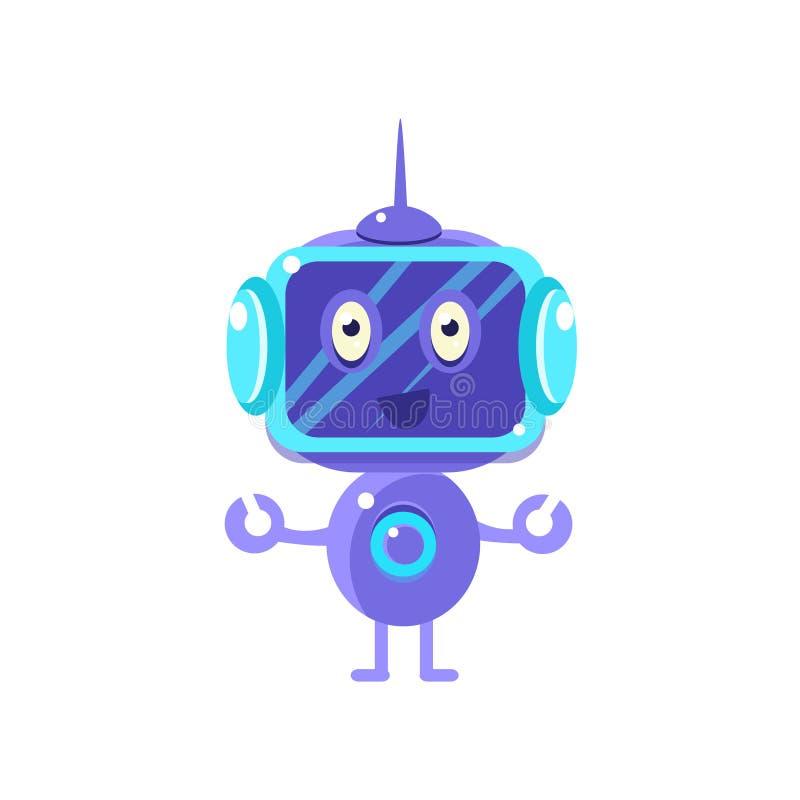 Robô de sorriso com tela escura ilustração royalty free