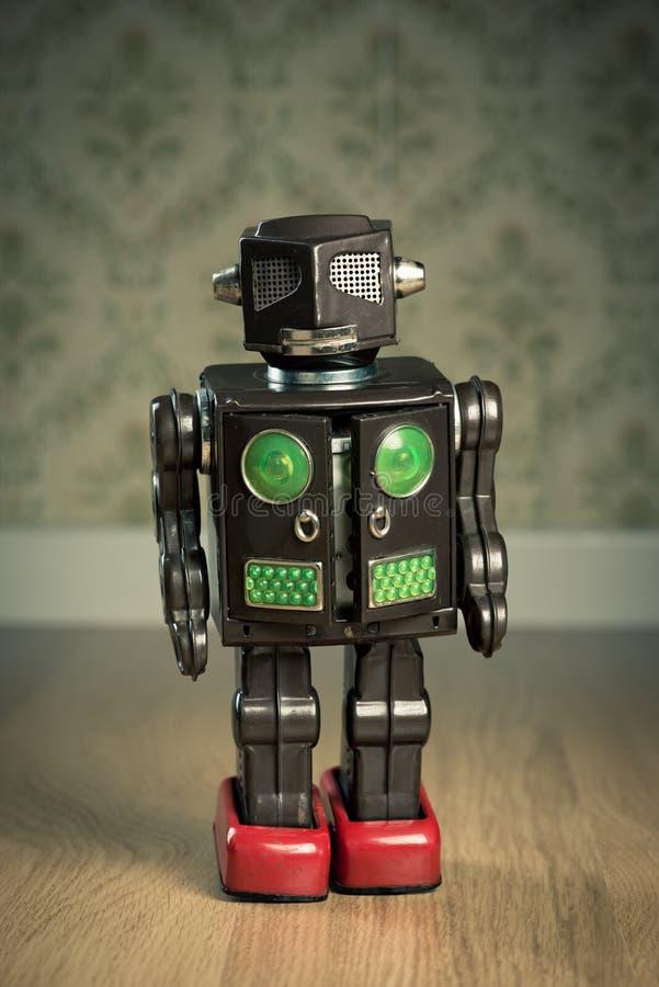Robô do brinquedo da lata do vintage fotos de stock royalty free