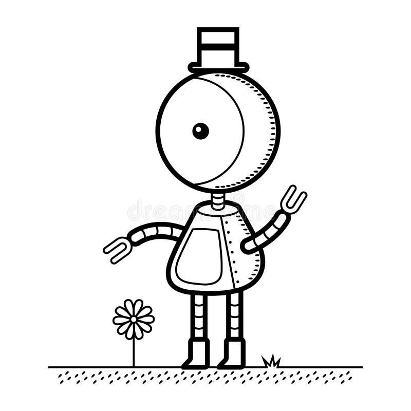 Robô do chapéu alto ilustração royalty free
