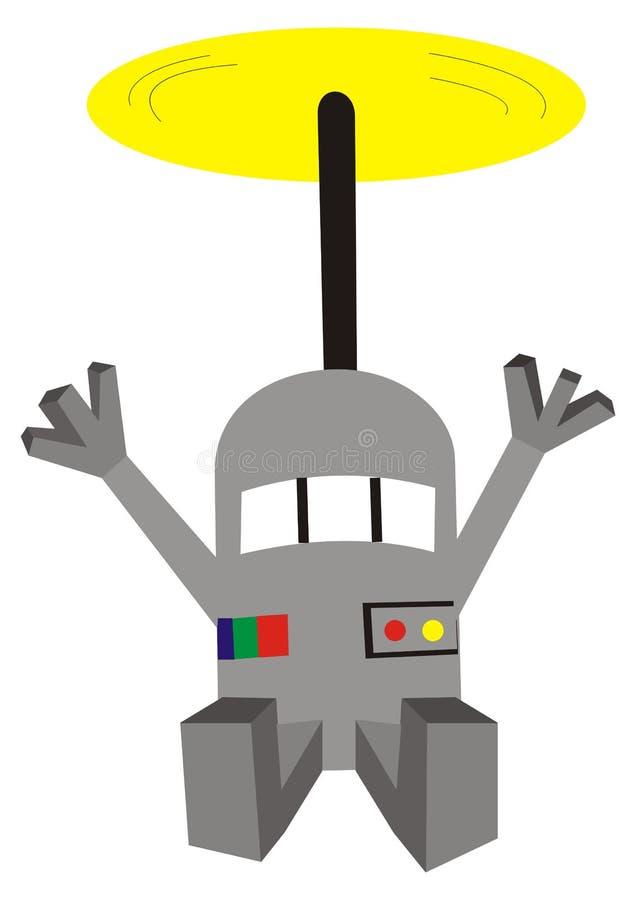 Robô do voo ilustração royalty free