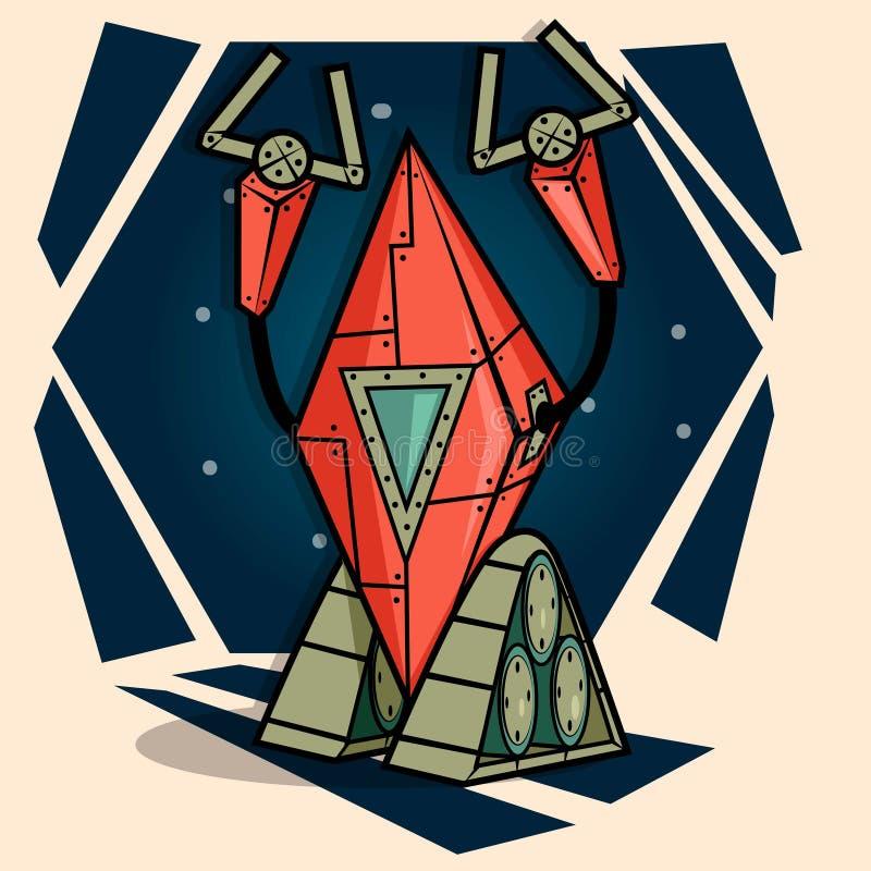 Robô dos desenhos animados ilustração royalty free