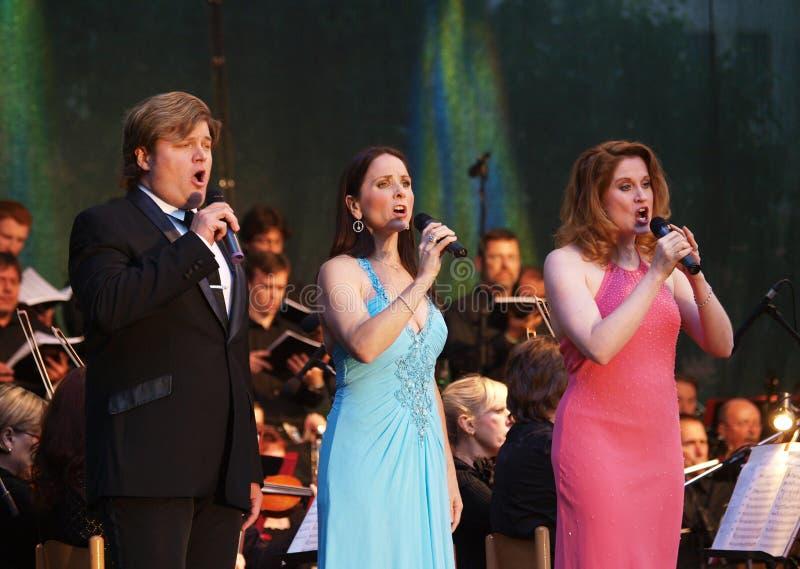 Rob Evan, Anne Runolfsonn und Christiane Noll lizenzfreie stockfotos