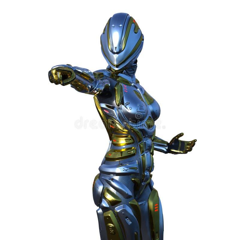 Robô fêmea ilustração royalty free