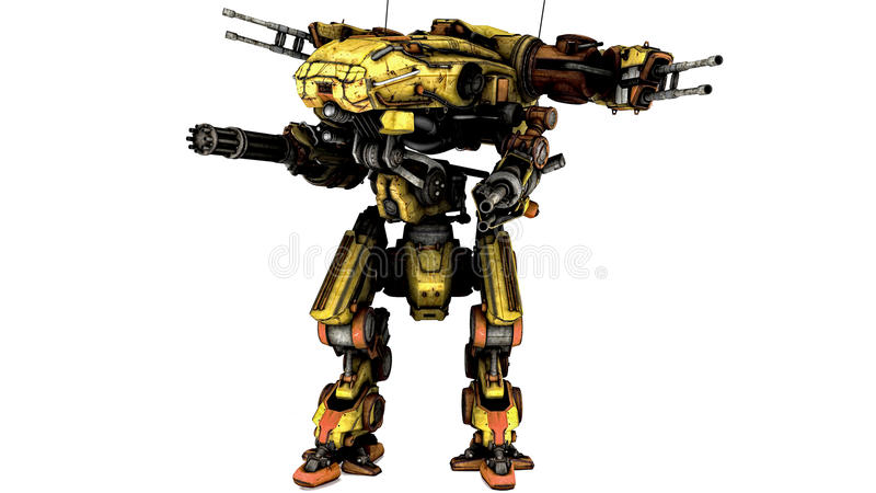 Robô futurista ilustração do vetor