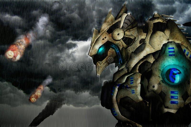 Robô gigante ilustração do vetor