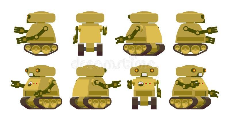 Robô militar ilustração royalty free