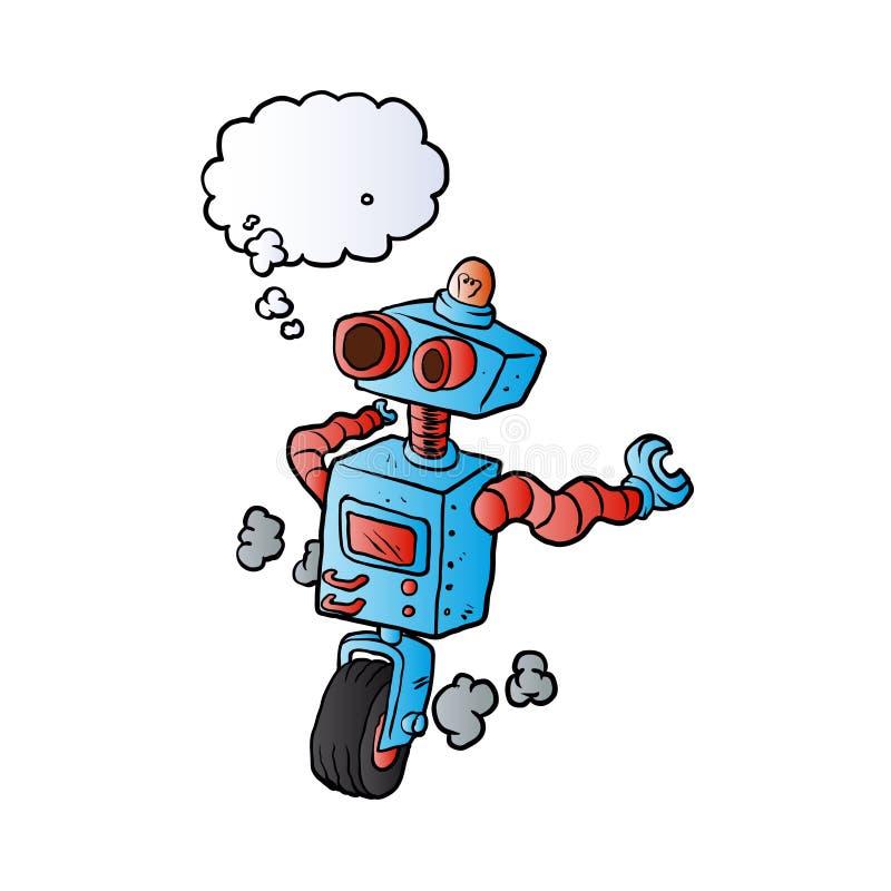 Robô na roda ilustração royalty free