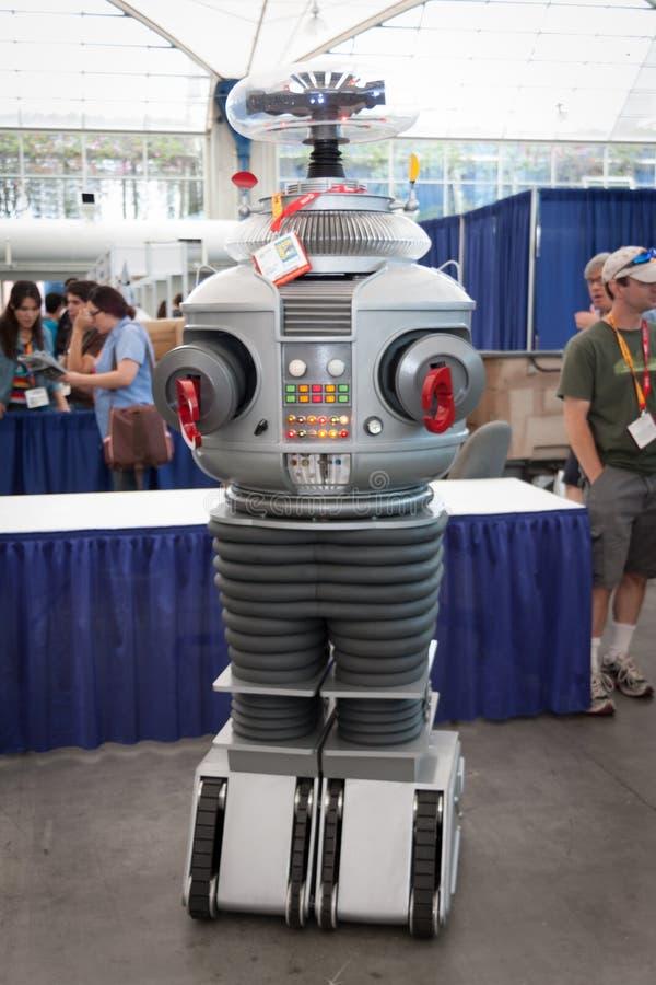 Robô no engodo cômico imagens de stock royalty free