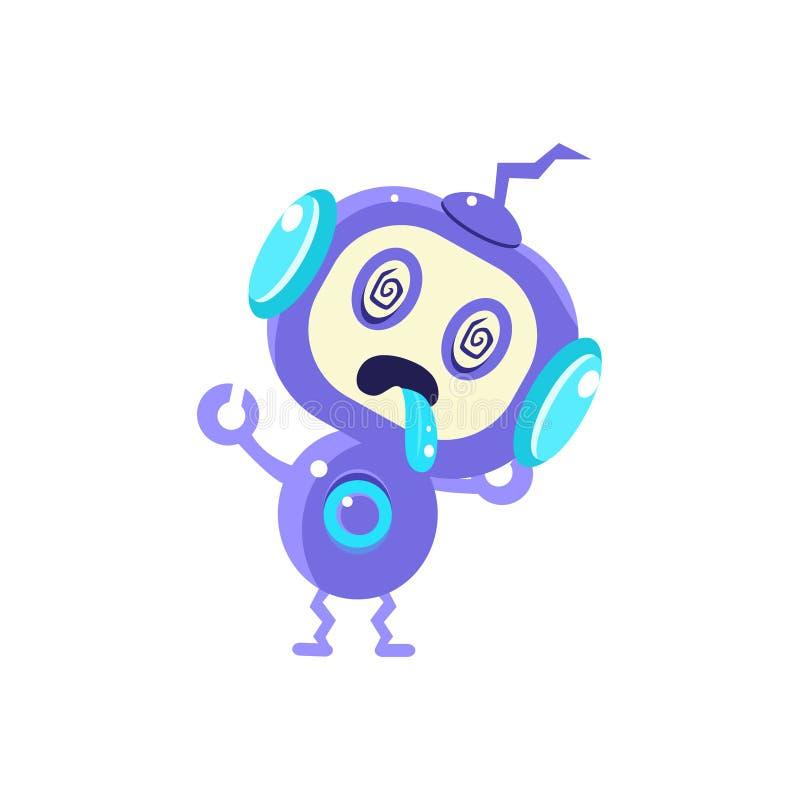 Robô pequeno quebrado ilustração royalty free