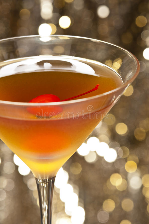 Rob Roy Cocktail. A image of a single Rob Roy Cocktail stock images