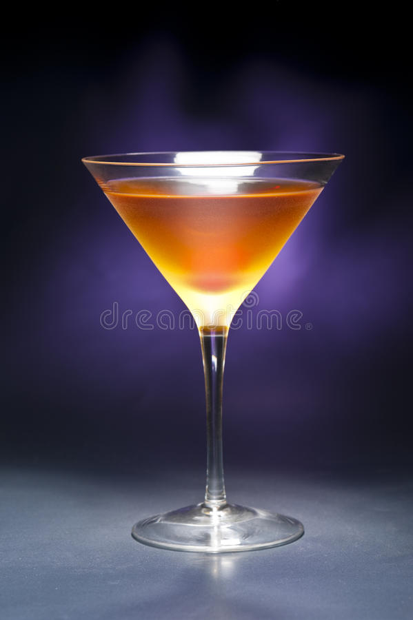 Rob Roy Cocktail. A image of a single Rob Roy Cocktail stock photography