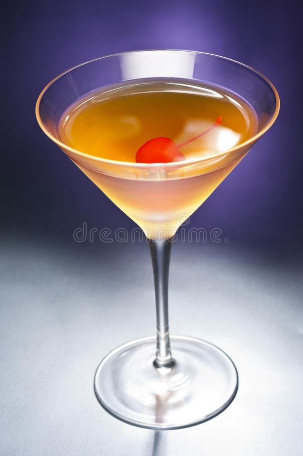 Rob Roy Cocktail. A image of a single Rob Roy Cocktail stock image