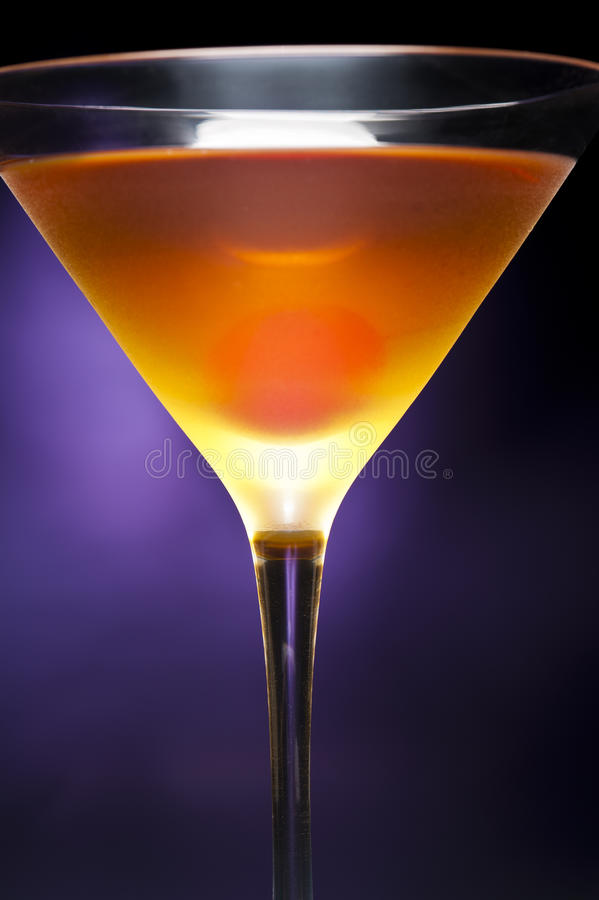Rob Roy Cocktail. A image of a single Rob Roy Cocktail stock photo