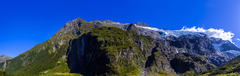 Rob Roy Glacier in Nieuw Zeeland royalty-vrije stock foto