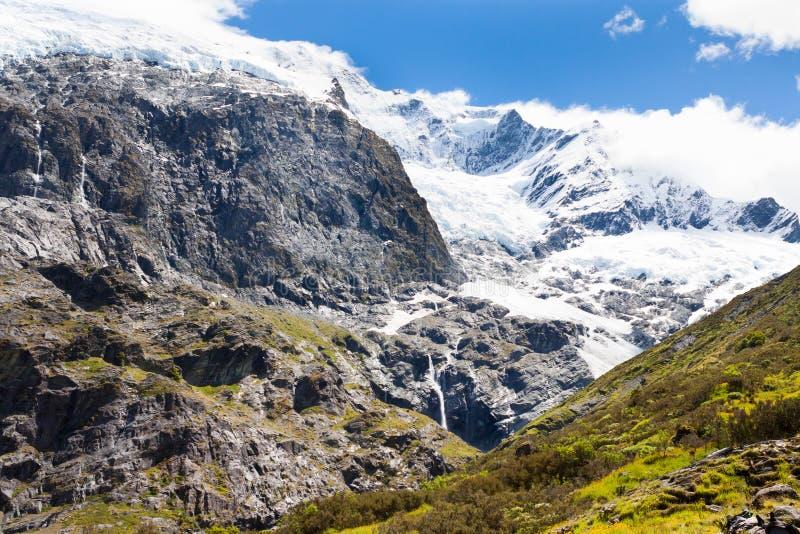 Rob Roy Glacier in Nieuw Zeeland royalty-vrije stock fotografie