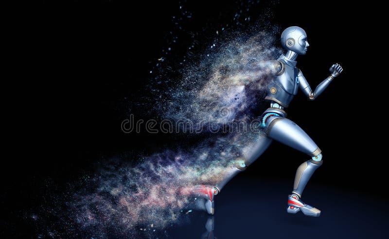 Robô Running ilustração royalty free