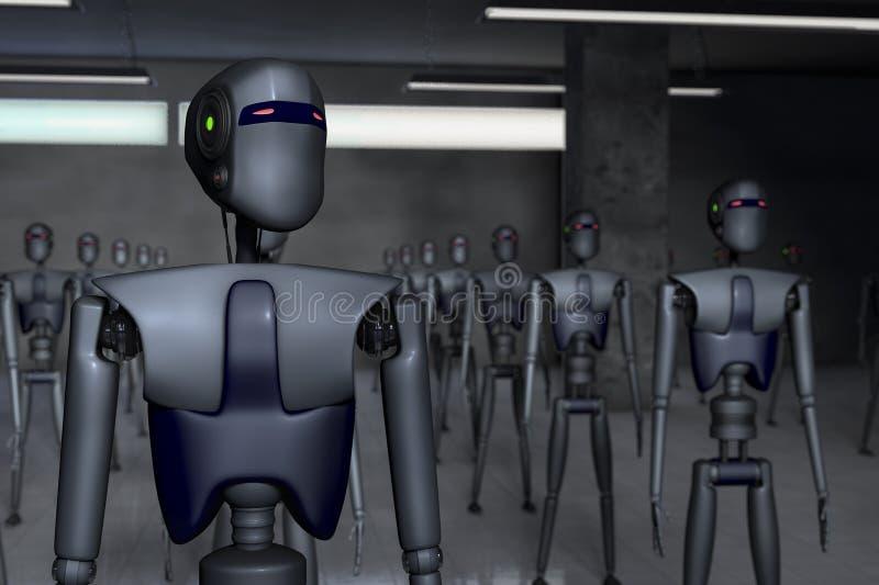 robôs ilustração stock