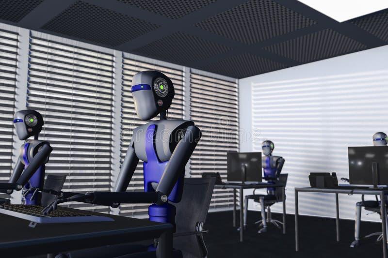 robôs ilustração do vetor