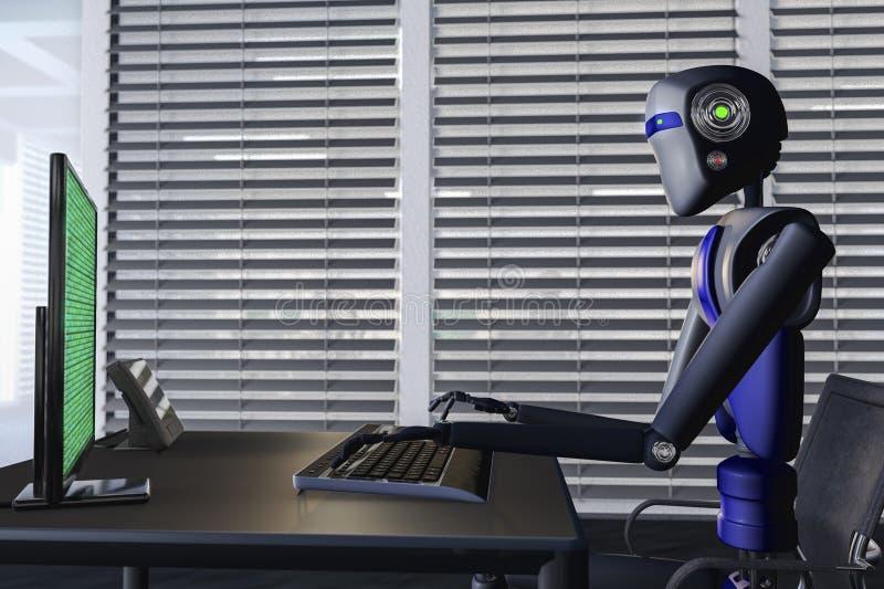 robôs ilustração royalty free