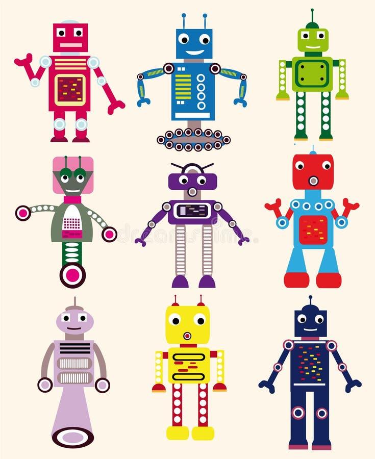Robôs ajustados ilustração do vetor