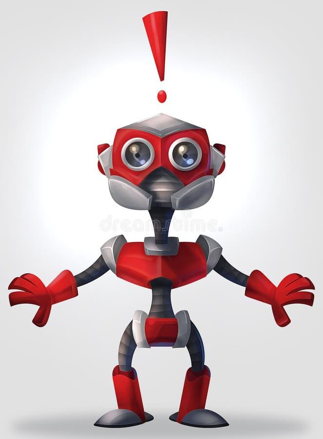 Robô surpreendido fotografia de stock